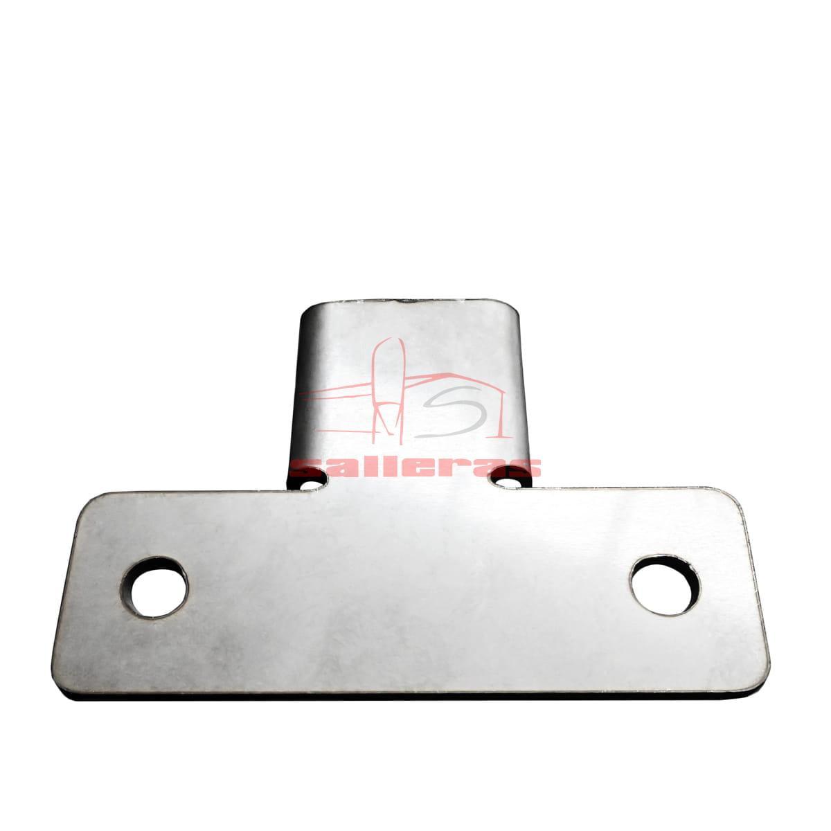 Perfil con forma de u de acero inoxidable con agujeros para sujecion arriba