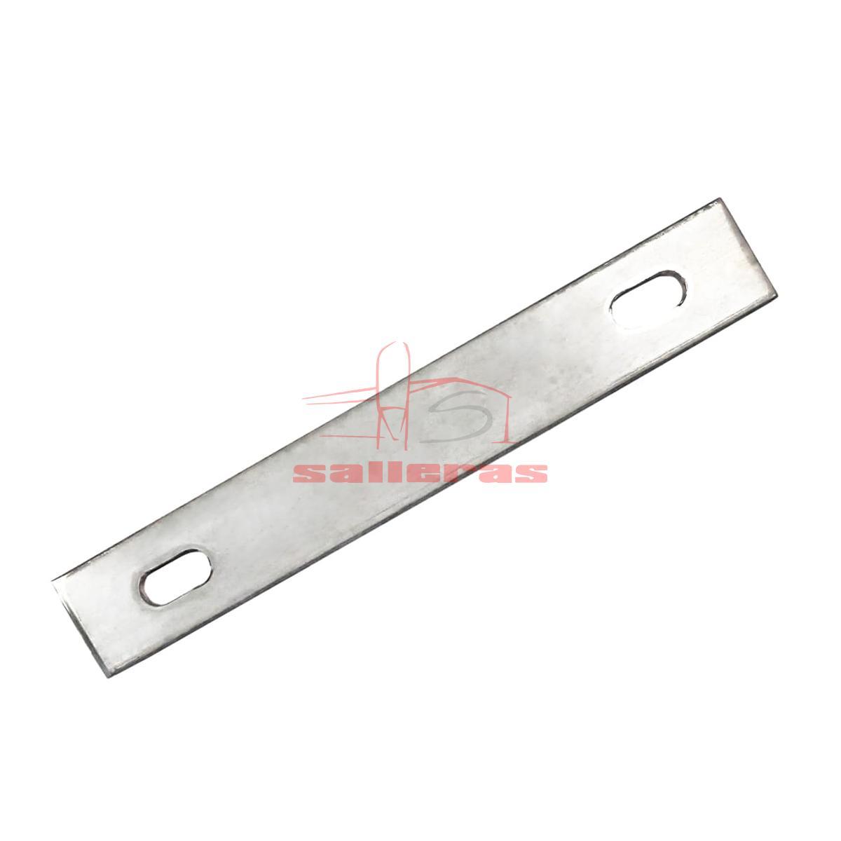 Placa de metal de acero inoxidable con dos agujeros