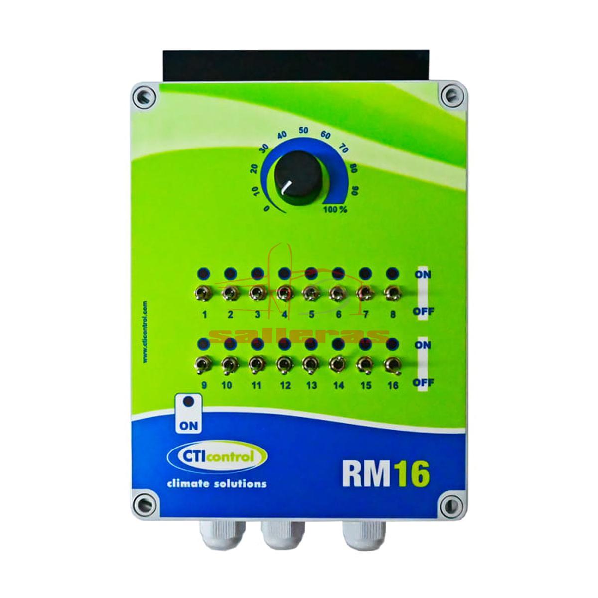 Regulador manual con soporte para 16 placas