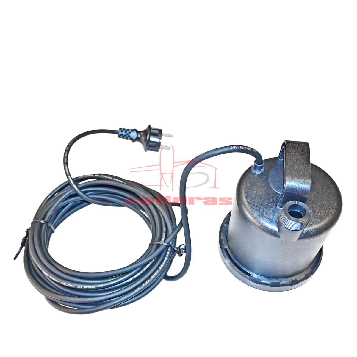 Bomba ger con manilla con cable enroscado