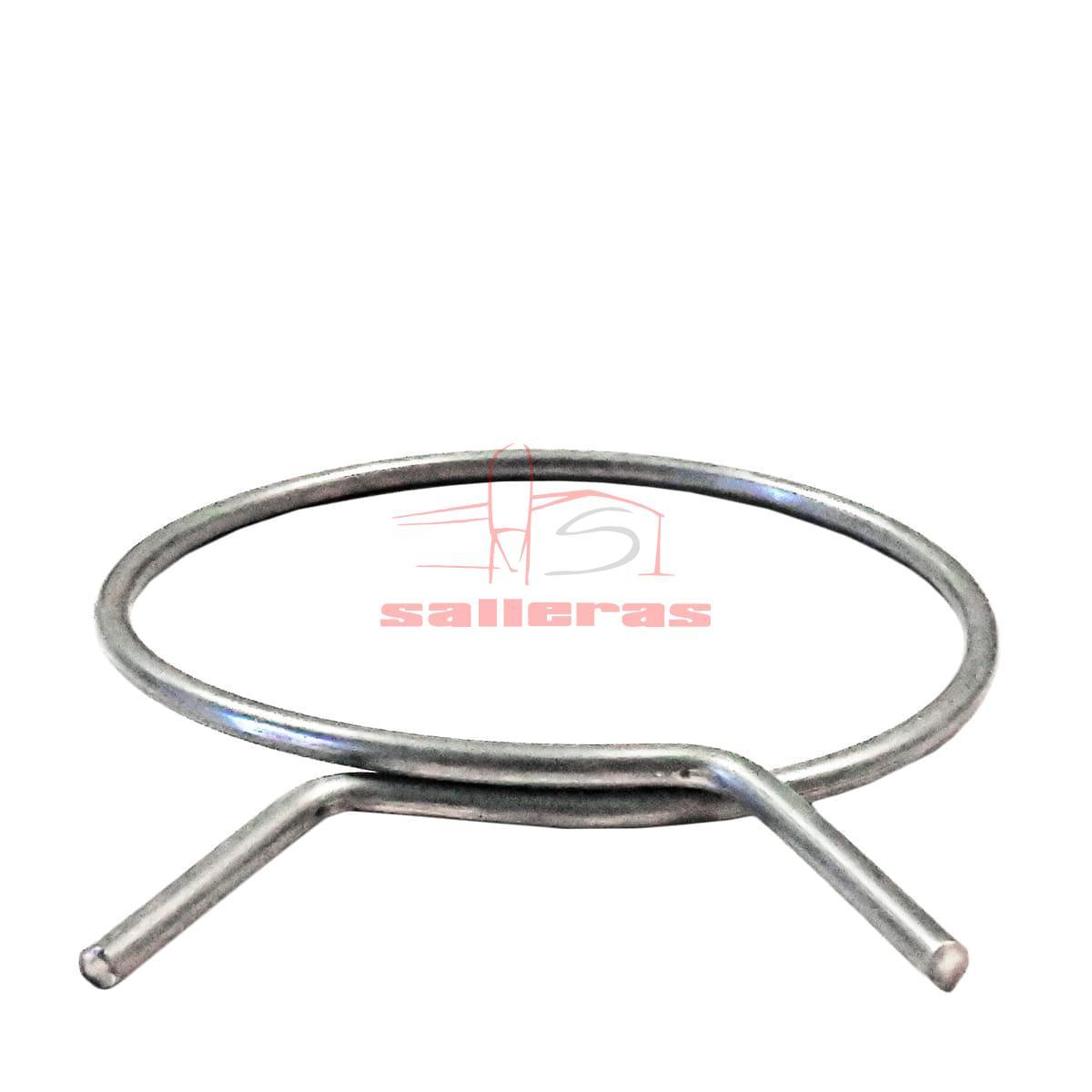 Collarin de acero inoxidable circular de lado