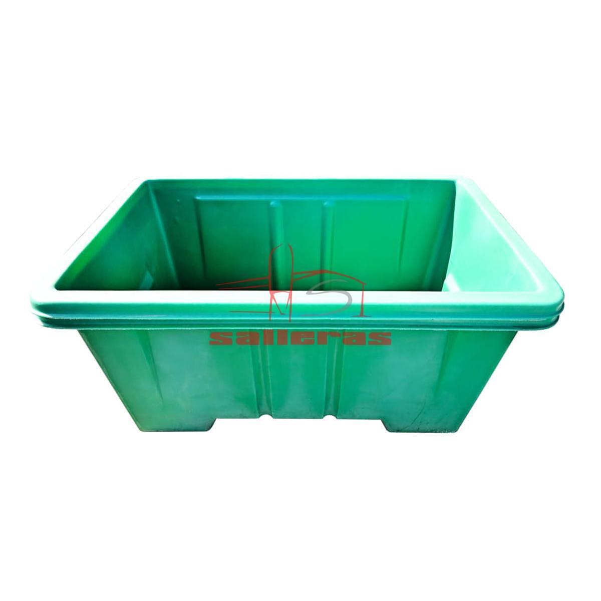 Cubeta verde de contenedor de plastico de 950 litros