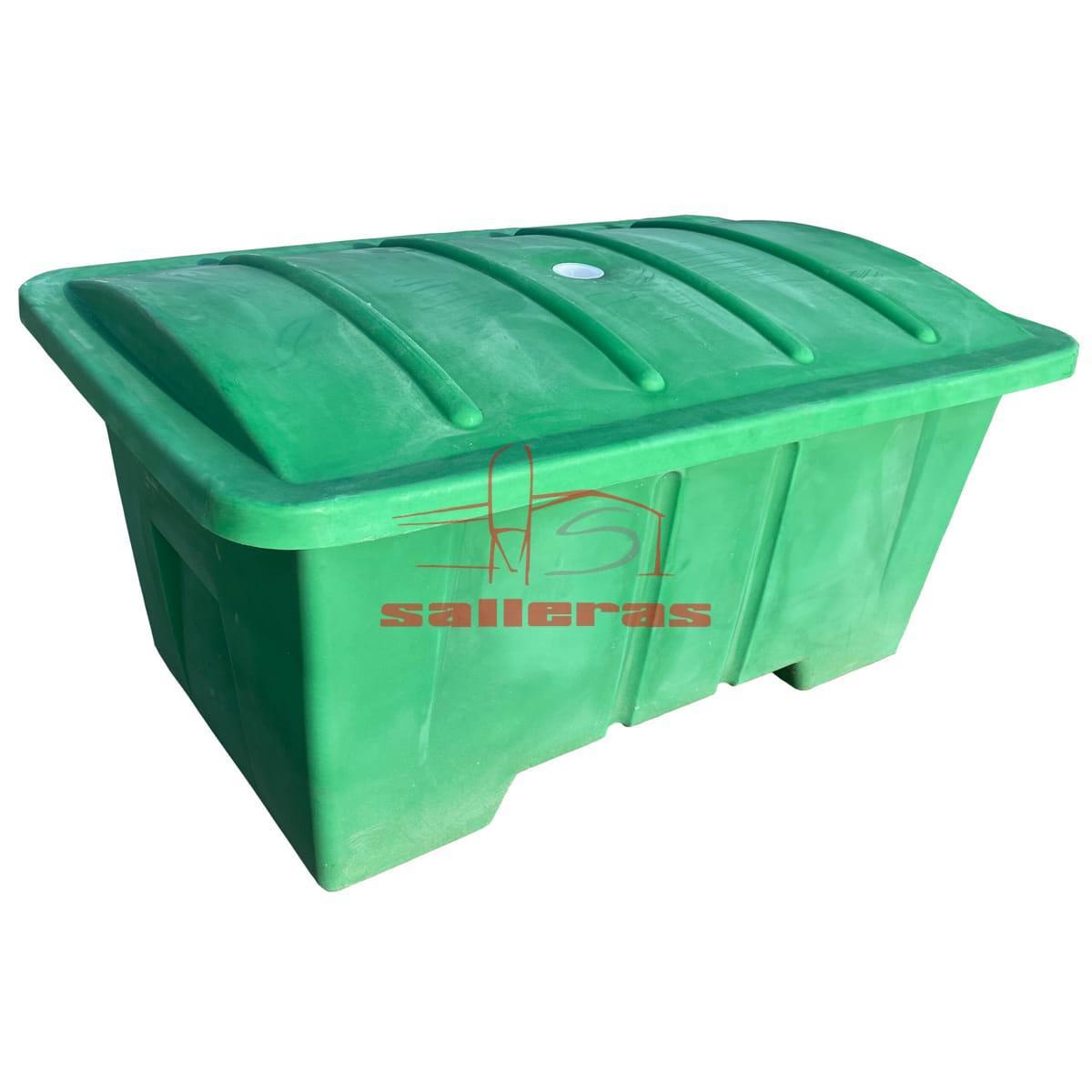 Cubeta con tapa verdes de contenedor de 950 litros