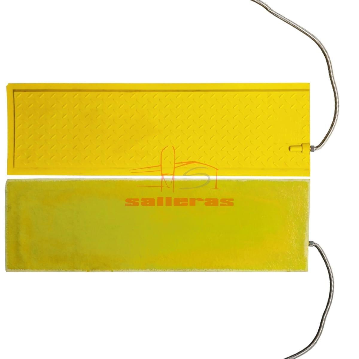 Placas de calefaccion amarillas de poliester