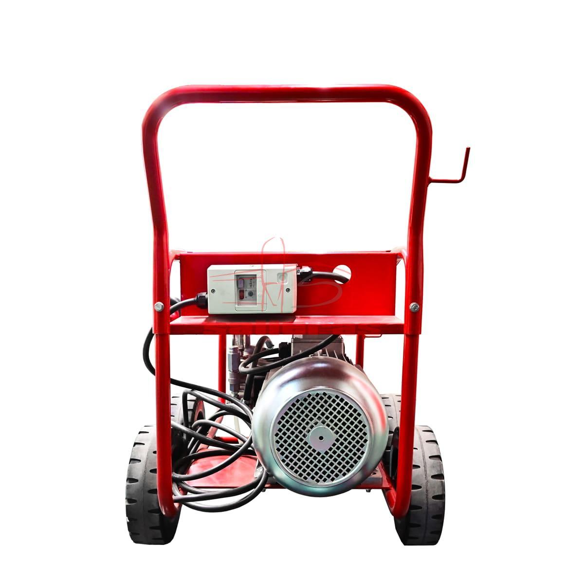 Maquina hidrolimpiadora de cuatro ruedas con asa reves