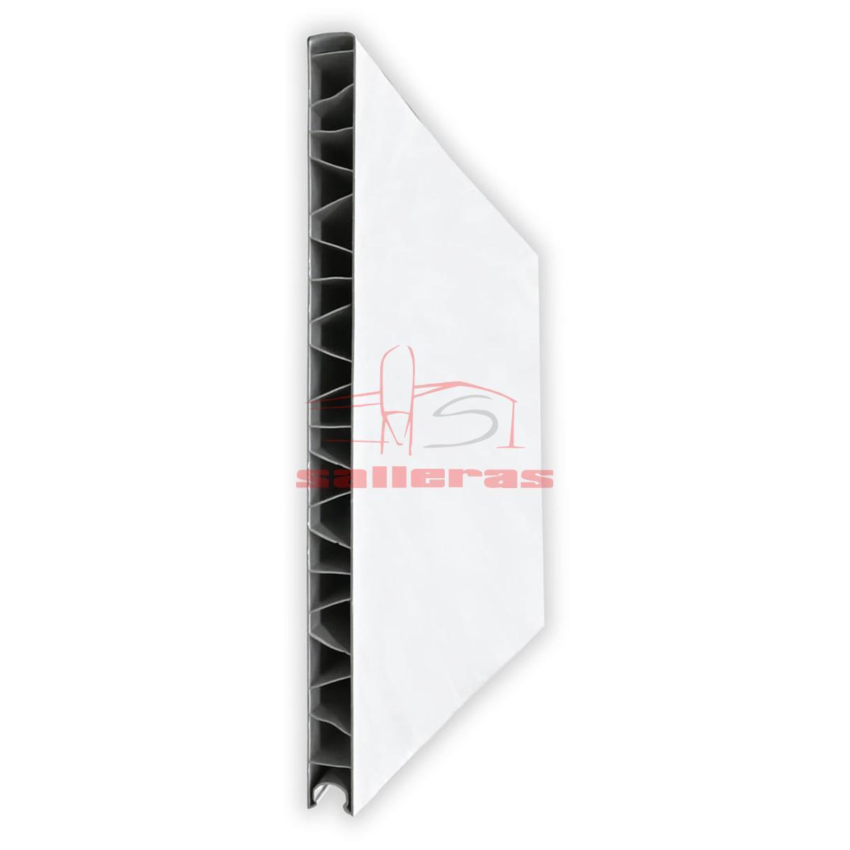 Panel de pvc blanco de encaje liso a hembra