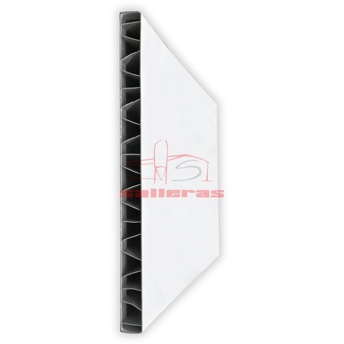Panel de pvc blanco de encaje liso a liso PR
