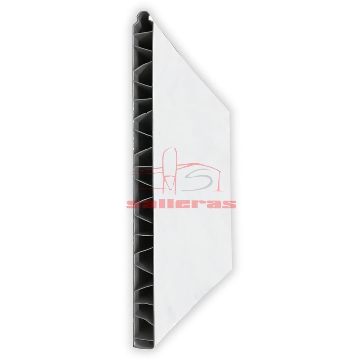 Panel de pvc blanco de encaje liso a macho r