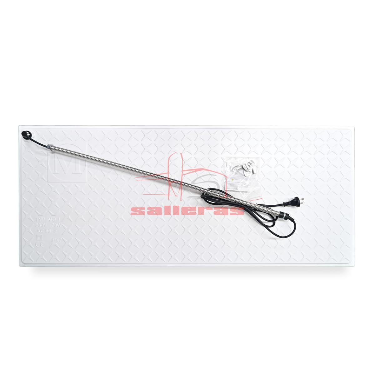 Placa calefactora de poliester electrica amarilla con cable