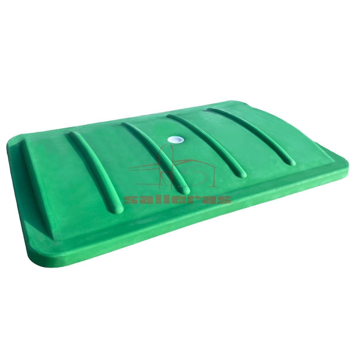Tapa verde para contenedores de plsatico de 950 litros