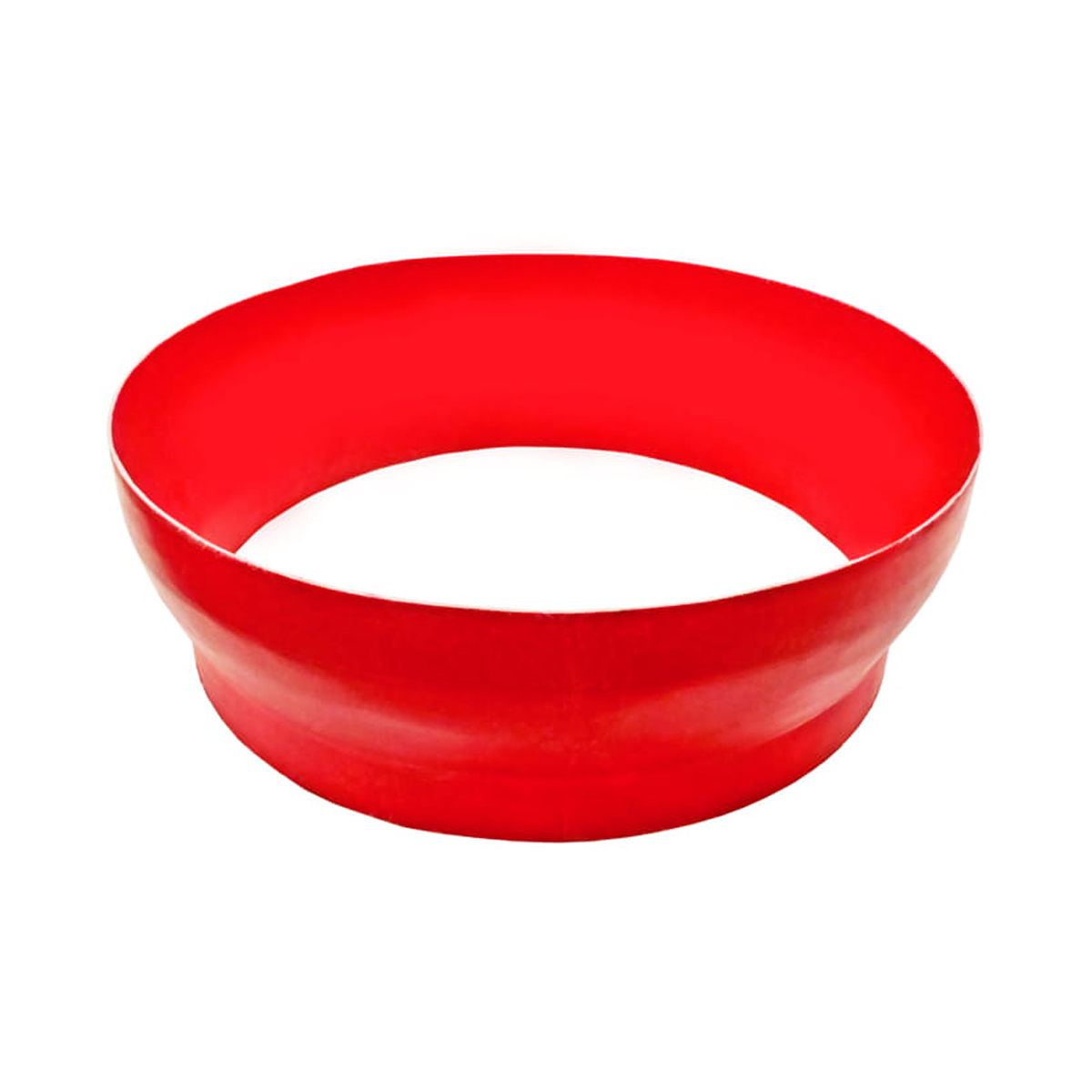 Cono rojo inoxidable para silo