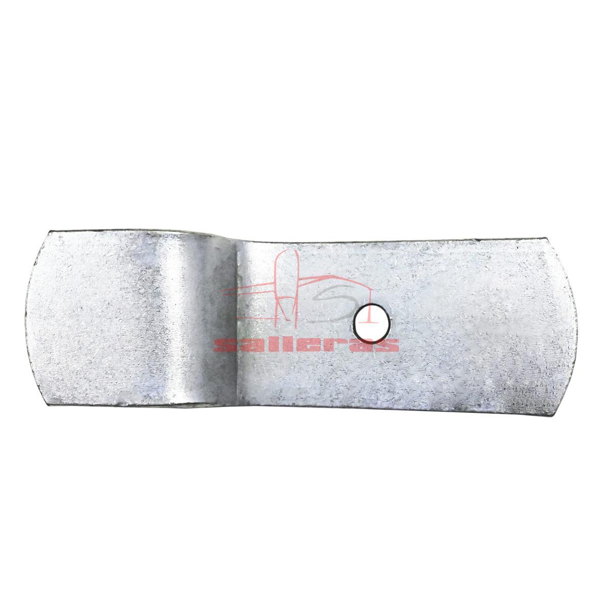 Pieza de amarre para parideras con forma de z