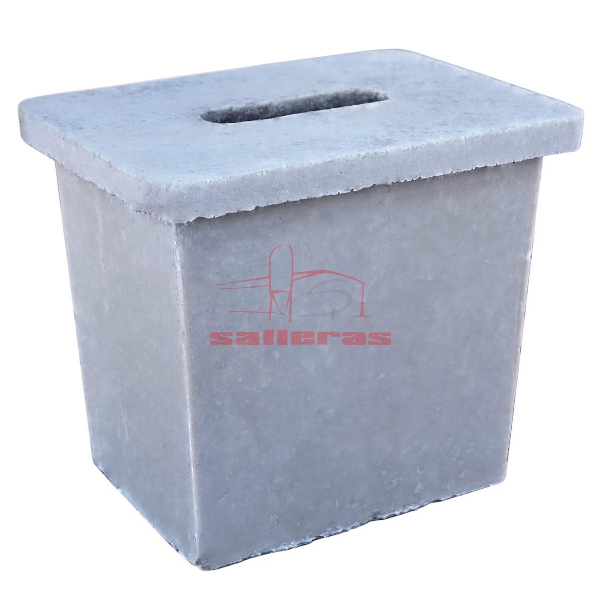 Tapon rectangular de polimero para desague