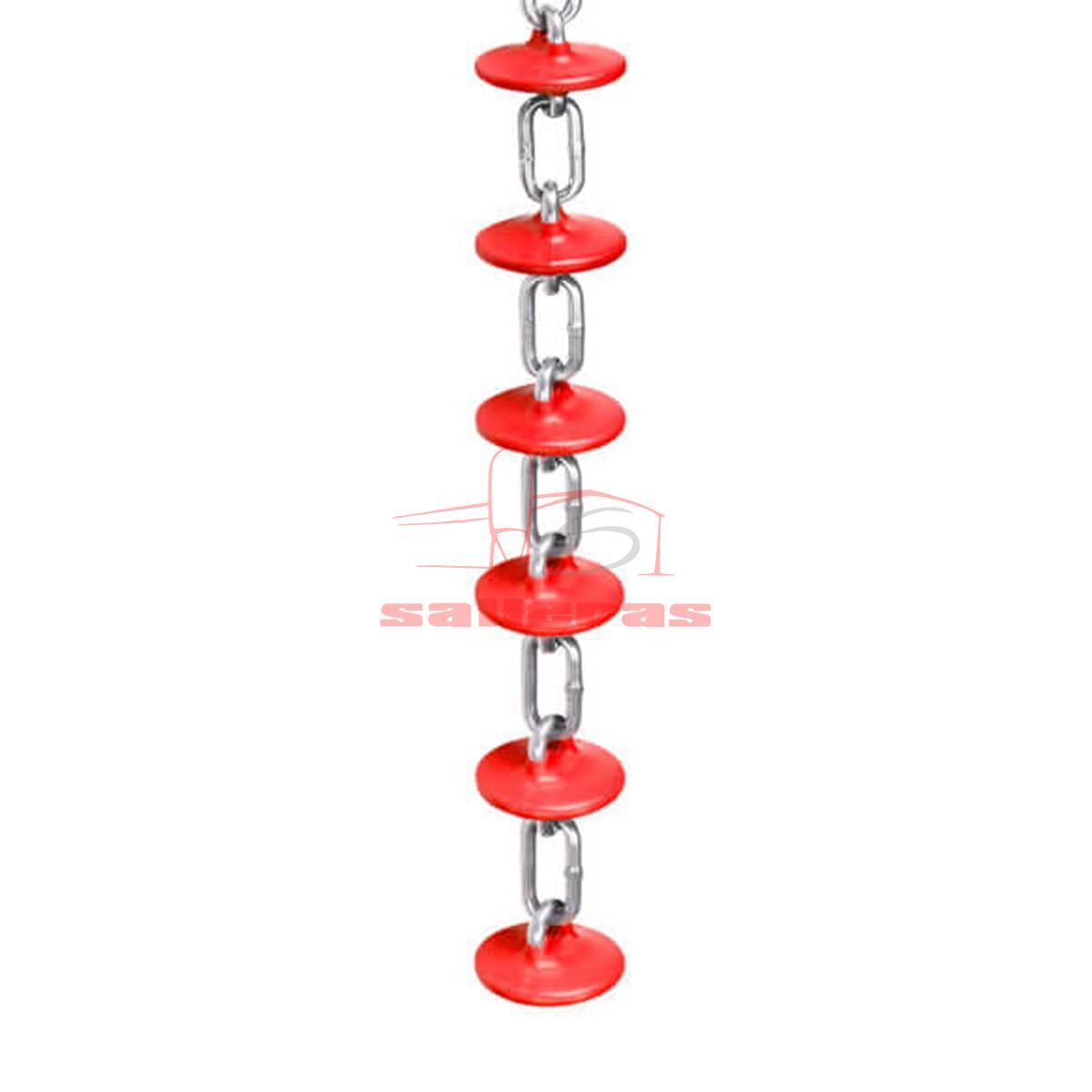 Cadena juguete antiestres para ganado color rojo