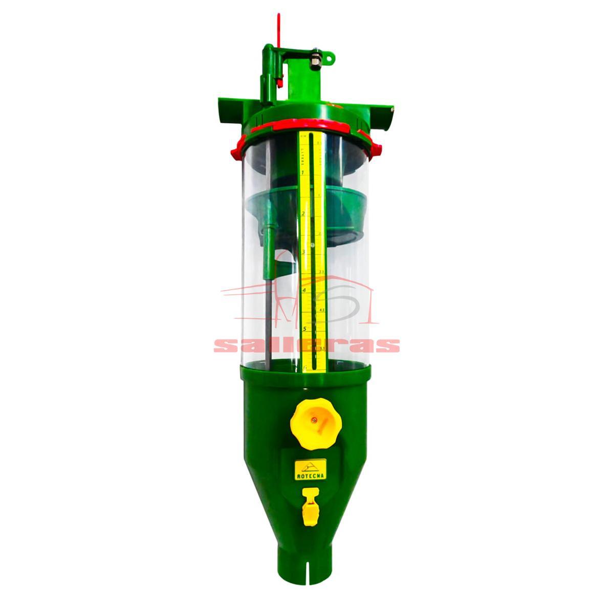 Dosificador de pienso y harina de 6 litros color verde