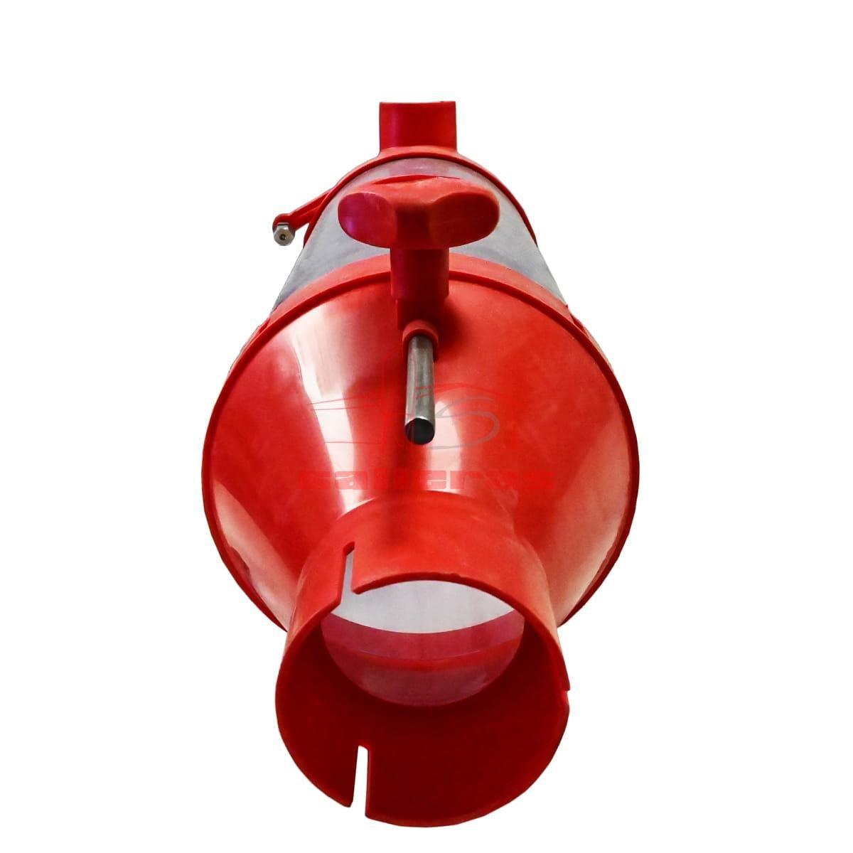 Dosificador de pienso y harina de 6 litros color rojo