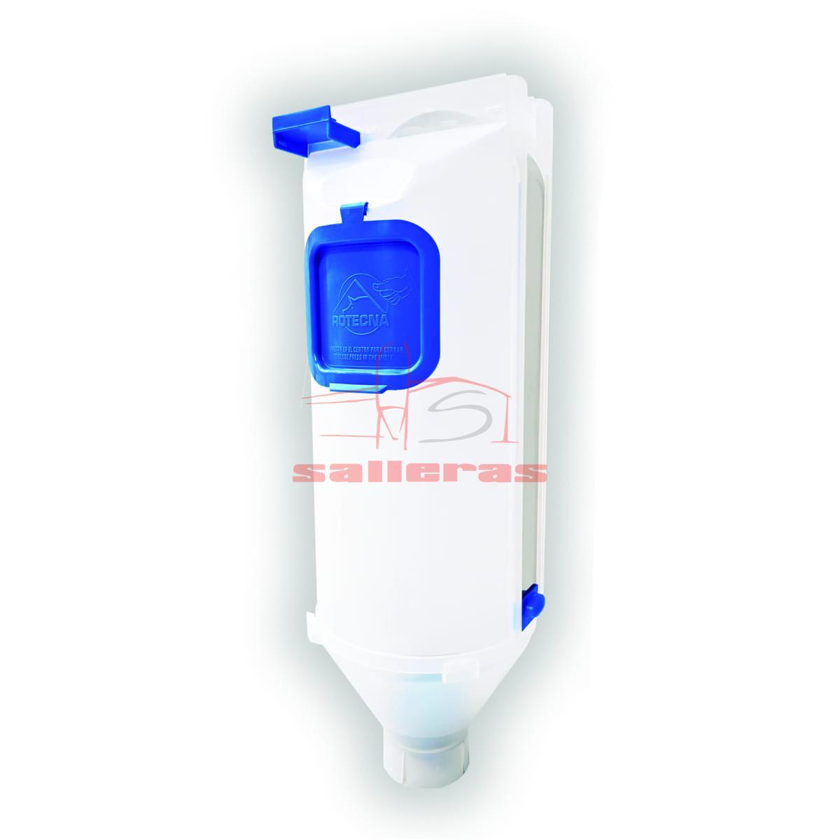 Dosificador de pienso y harina de 7 litros color blanco
