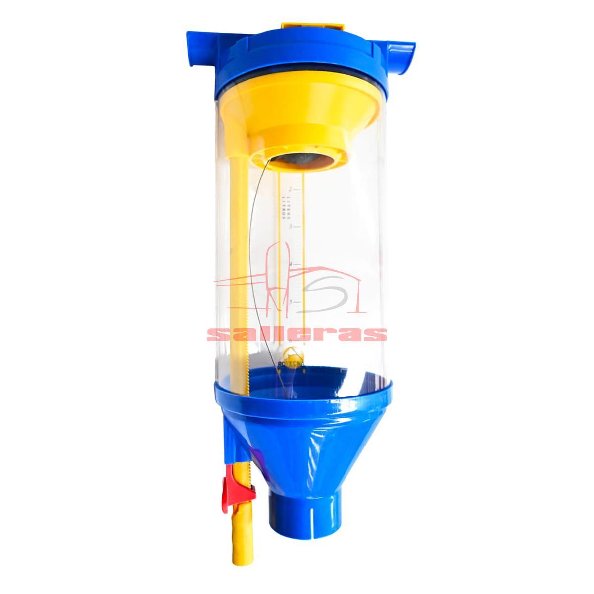 Dosificador de pienso y harina de 6 litros color azul