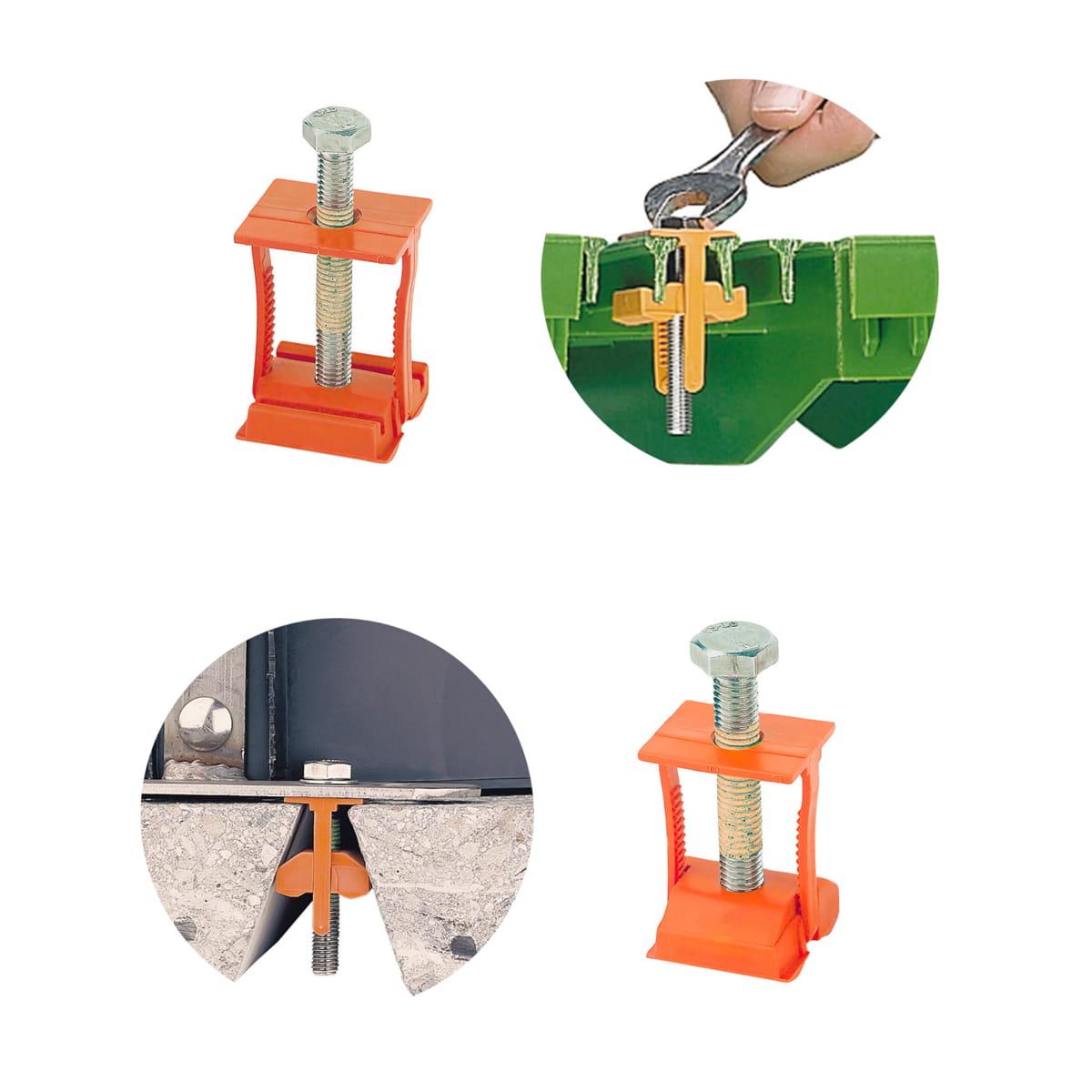 Dos anclajes para slats con sus lugares de instalacion