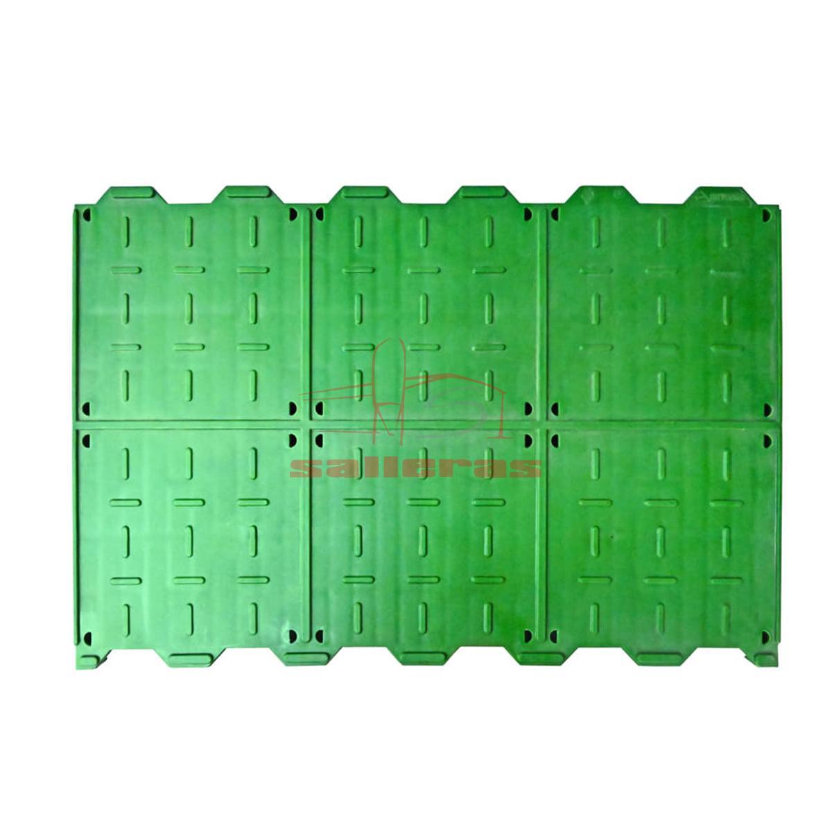 Dos slats ciegos verdes 60 y 40
