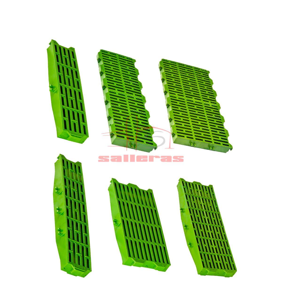 6 slats verdes complementarios