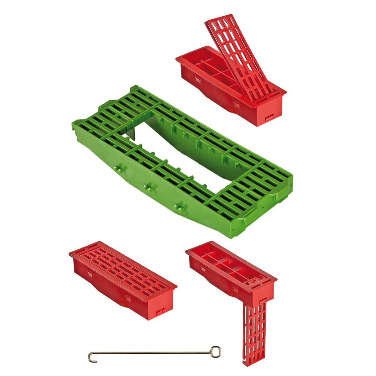 4 complementos para rejillas con su barilla metalica