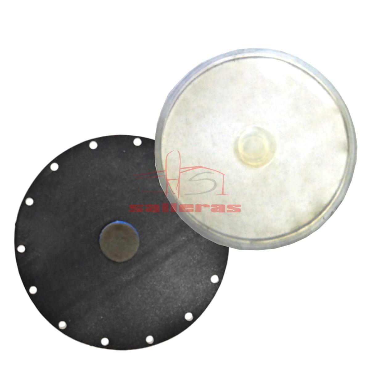 Dos membranas de recambio circulares para valvula vrh