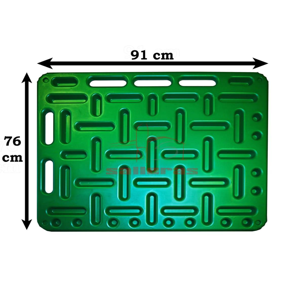 Dos paneles verdes para empujar ganado
