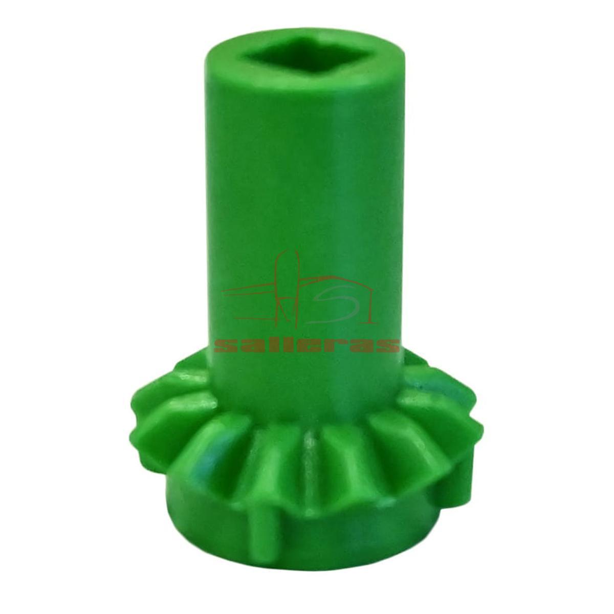 Dos engranajes verdes verticales clutch
