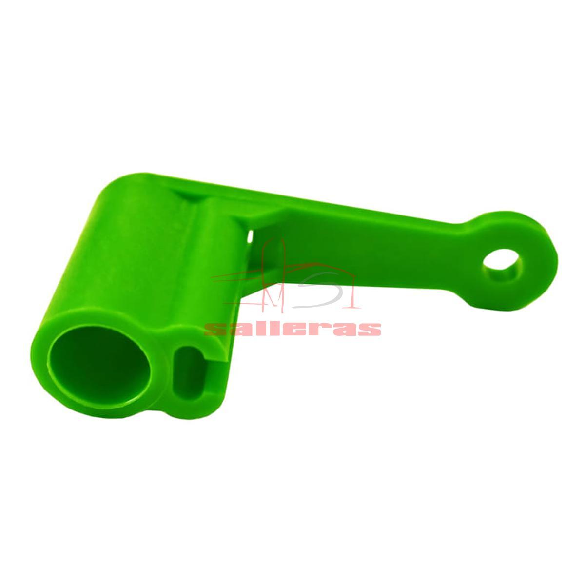 Dos manetas verdes de descarga para dosificador Clutch