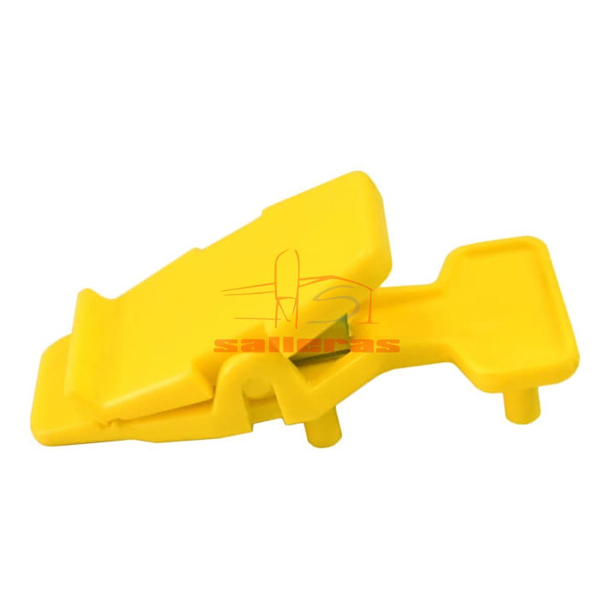 Dos pinzas amarillas para dosificador clutch