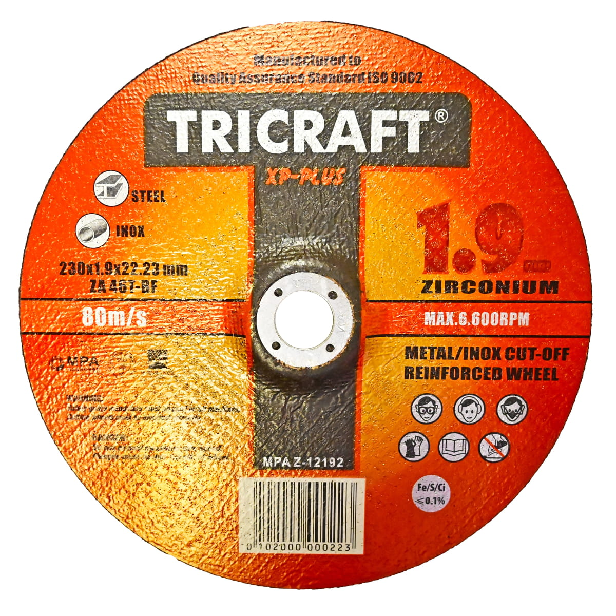 Disco cortar 230 x 1,9 naranja