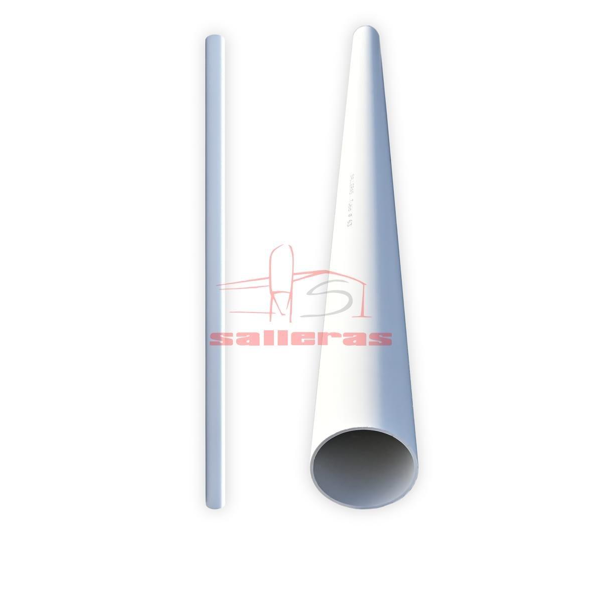 Dos tubos de pvc blancos de 63