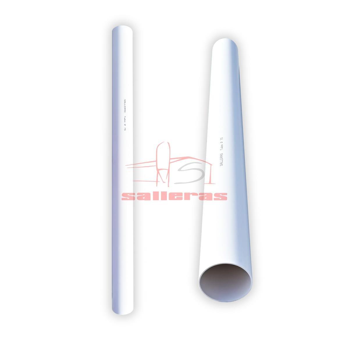 Dos tubos de PVC blancos tamaño 75