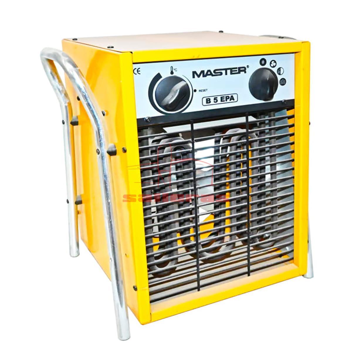 Calentador de aire amarillo con asa reves