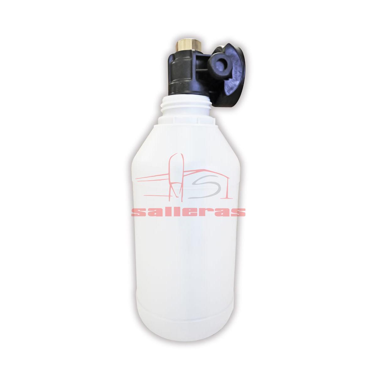 botella para lanzar espuma con deposito lateral