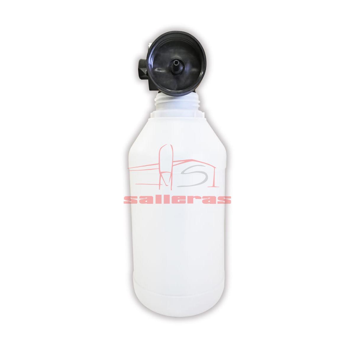 botella para lanzar espuma con deposito